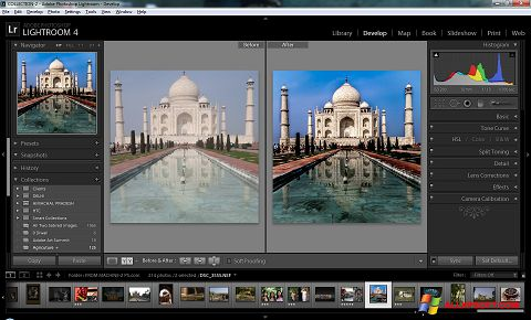 Screenshot Adobe Photoshop Lightroom untuk Windows XP