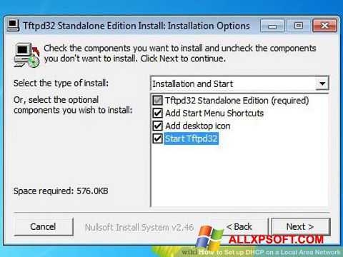 Screenshot Tftpd32 untuk Windows XP
