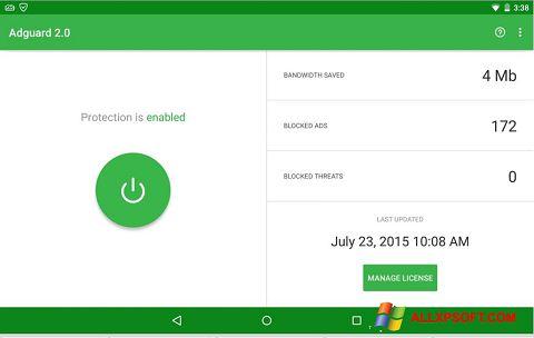 Screenshot Adguard untuk Windows XP