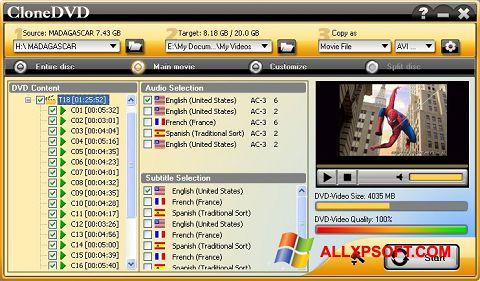 Screenshot CloneDVD untuk Windows XP