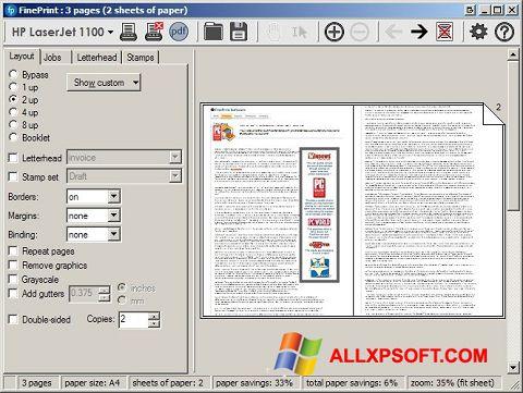 Screenshot FinePrint untuk Windows XP
