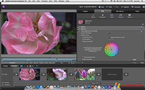 Screenshot Adobe Premiere Elements untuk Windows XP