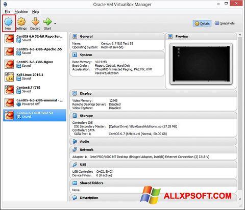 Screenshot VirtualBox untuk Windows XP