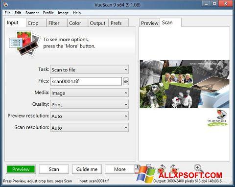 Screenshot VueScan untuk Windows XP