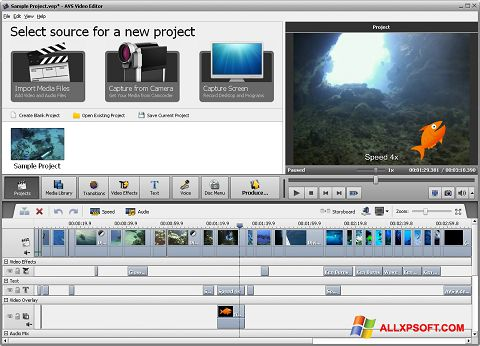 Screenshot AVS Video Editor untuk Windows XP