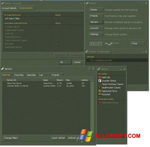Screenshot Steam untuk Windows XP