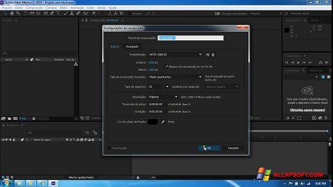 Screenshot Adobe After Effects CC untuk Windows XP