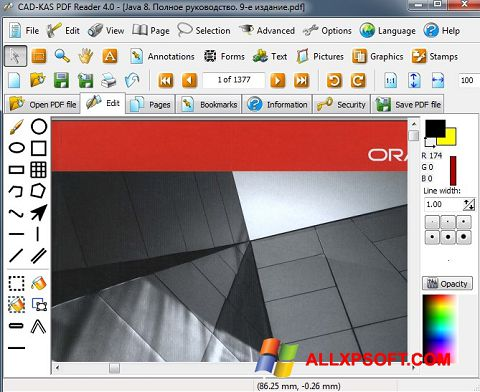 Screenshot PDF Reader untuk Windows XP