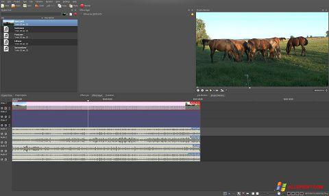 Screenshot Kdenlive untuk Windows XP