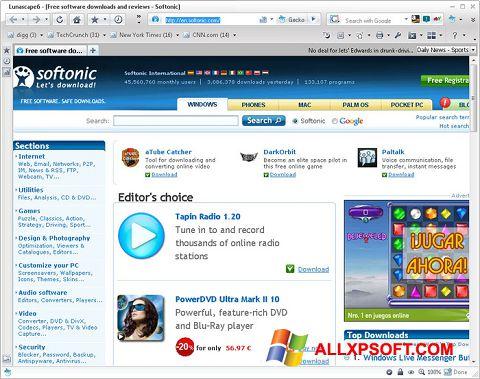 Screenshot Lunascape untuk Windows XP