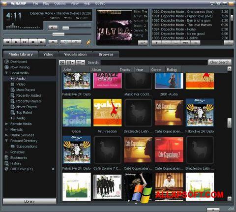 Screenshot Winamp untuk Windows XP
