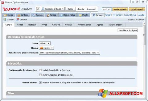 Screenshot Zimbra Desktop untuk Windows XP