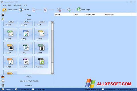 Screenshot Format Factory untuk Windows XP