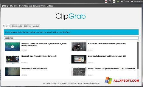 Screenshot ClipGrab untuk Windows XP