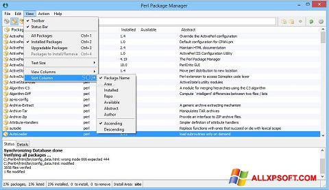 Screenshot ActivePerl untuk Windows XP