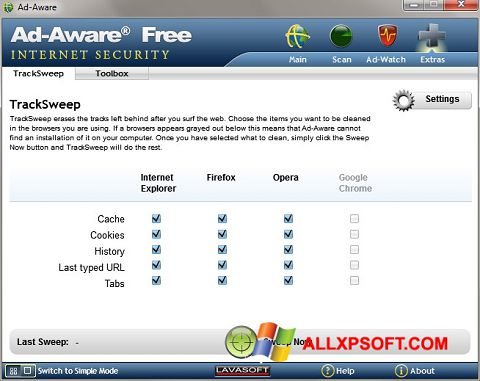 Screenshot Ad-Aware untuk Windows XP