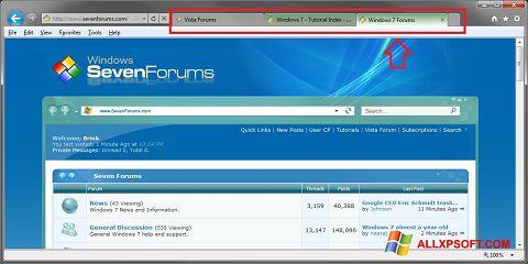 Screenshot Internet Explorer untuk Windows XP