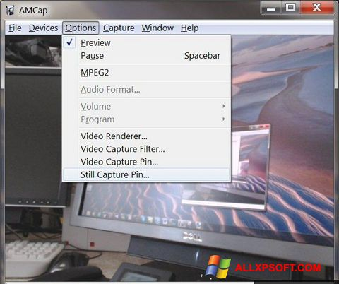 Screenshot AMCap untuk Windows XP