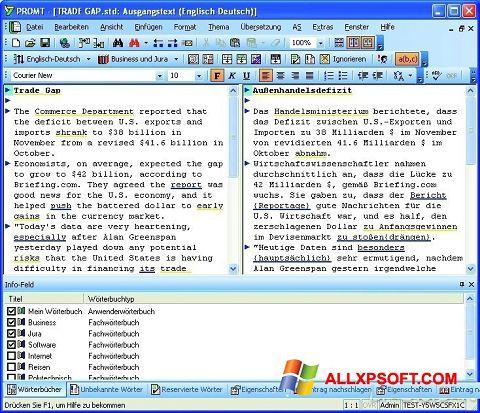 Screenshot PROMT untuk Windows XP