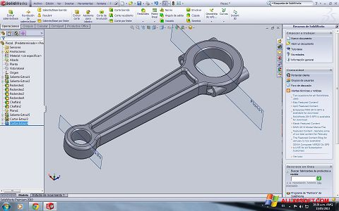 Screenshot SolidWorks untuk Windows XP
