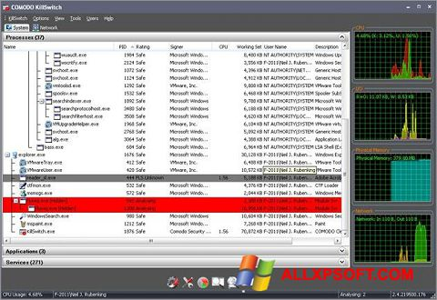 Screenshot Comodo Cleaning Essentials untuk Windows XP