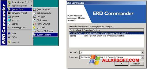 Screenshot ERD Commander untuk Windows XP