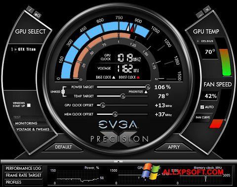 Screenshot EVGA Precision X untuk Windows XP