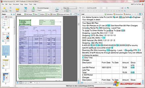 Screenshot ABBYY FineReader untuk Windows XP