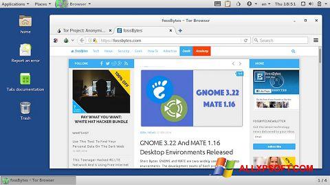 Screenshot Tor Browser untuk Windows XP