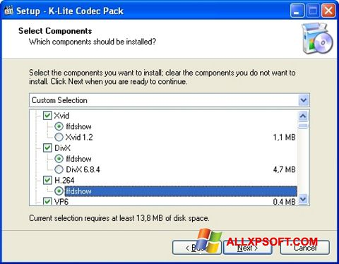 Screenshot K-Lite Codec Pack untuk Windows XP