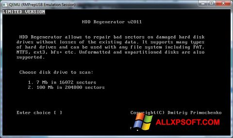 Screenshot HDD Regenerator untuk Windows XP
