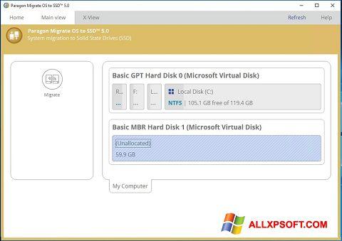 Screenshot Paragon Migrate OS to SSD untuk Windows XP