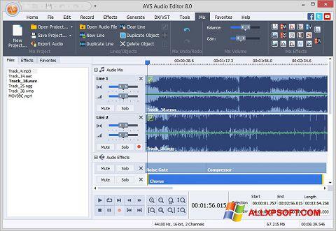 Screenshot AVS Audio Editor untuk Windows XP