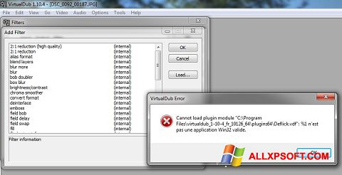 Screenshot VirtualDub untuk Windows XP