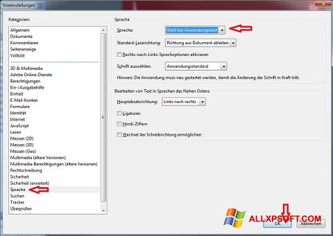 Screenshot Adobe Reader untuk Windows XP