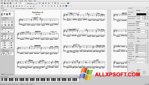 Screenshot MuseScore untuk Windows XP