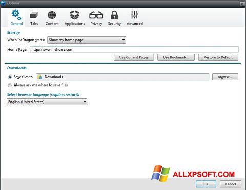Screenshot Comodo IceDragon untuk Windows XP