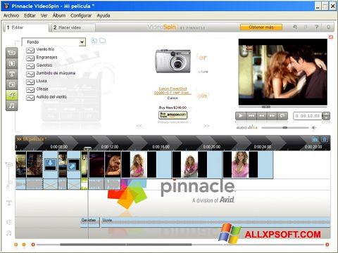 Screenshot Pinnacle VideoSpin untuk Windows XP