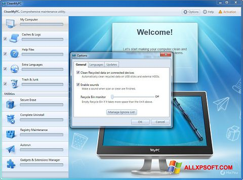 Screenshot CleanMyPC untuk Windows XP
