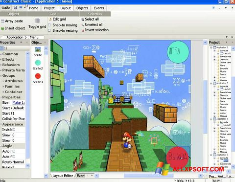 Screenshot Construct Classic untuk Windows XP