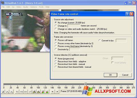 Screenshot VirtualDubMod untuk Windows XP