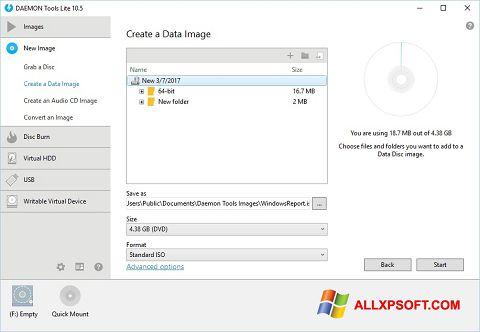 Screenshot DAEMON Tools Lite untuk Windows XP