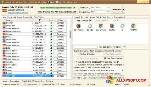 Screenshot Hide ALL IP untuk Windows XP