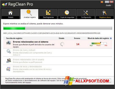 Screenshot RegClean Pro untuk Windows XP