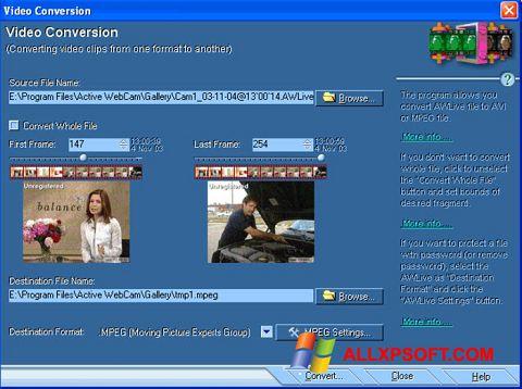 Screenshot Active WebCam untuk Windows XP