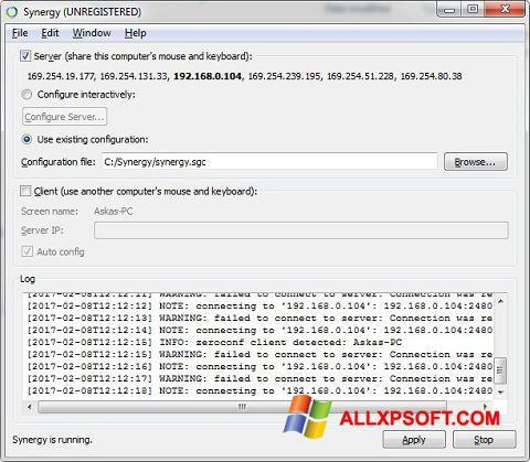 Screenshot Synergy untuk Windows XP