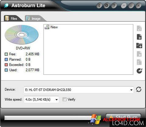 Screenshot Astroburn Lite untuk Windows XP
