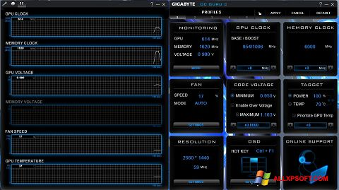 Screenshot GIGABYTE OC Guru untuk Windows XP