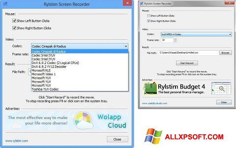 Screenshot Rylstim Screen Recorder untuk Windows XP