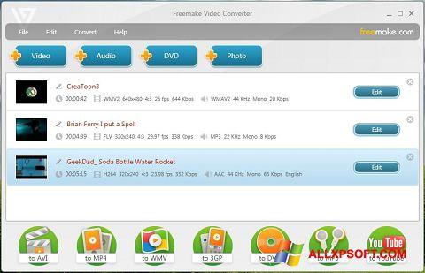 Screenshot Freemake Video Converter untuk Windows XP